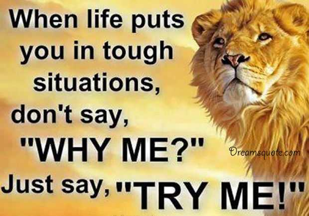 Positive Inspirational Quotes about life Always Try me Inspirational thoughts life quotes
