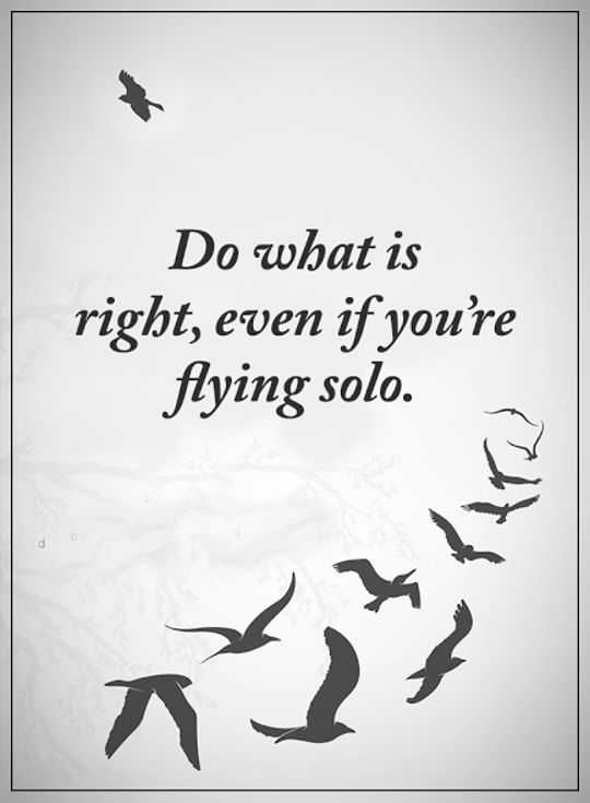 best inspirational quotes aboutlife Sayings Do What Is Right, Flying Solo
