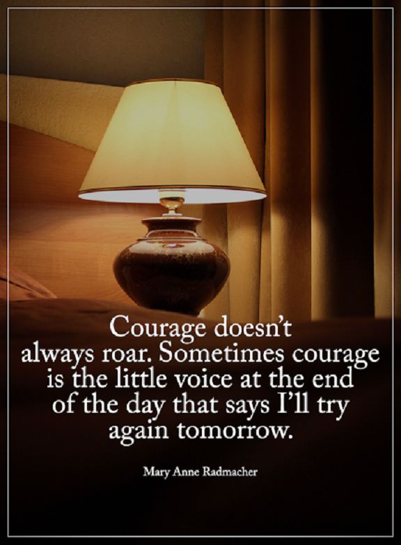 Encourage Quotes About Courage Doesn't Always Roar, I'll Try Again