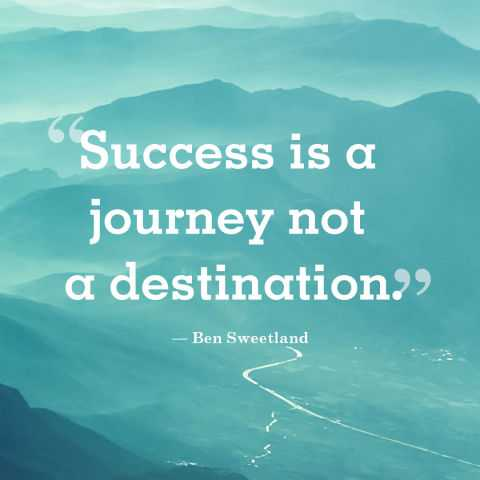 short positive quotes Success is a journey Go with all your heart encourage sayings