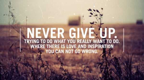 Motivational Quotes about life never give up
