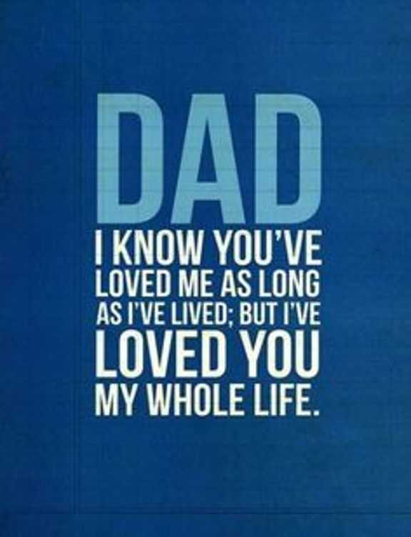 Best Fathers Day Quotes: Dad I Loved You My Whole Life ...