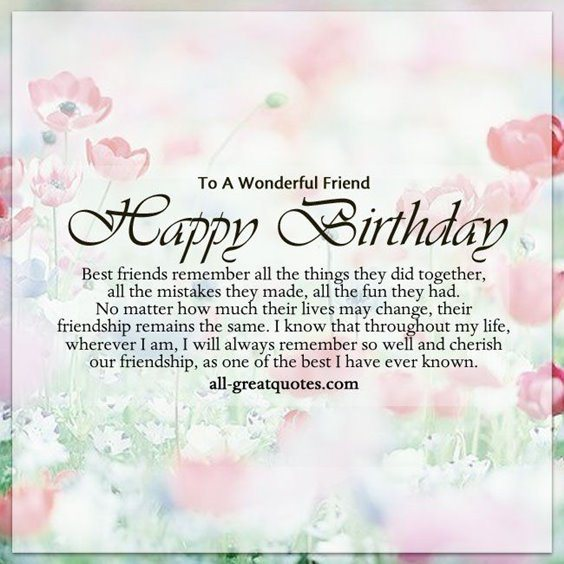 50 Happy Birthday Wishes Friendship Quotes With Images 15