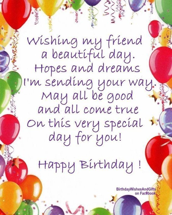 50 Happy birthday wishes friendship Quotes With Images ...Happy Birthday Friend Quotes Sayings