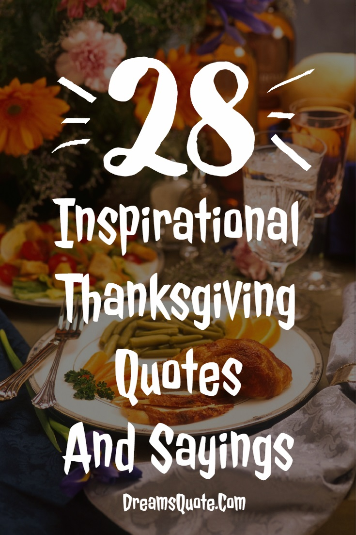 Inspirational Thanksgiving Quotes And Sayings