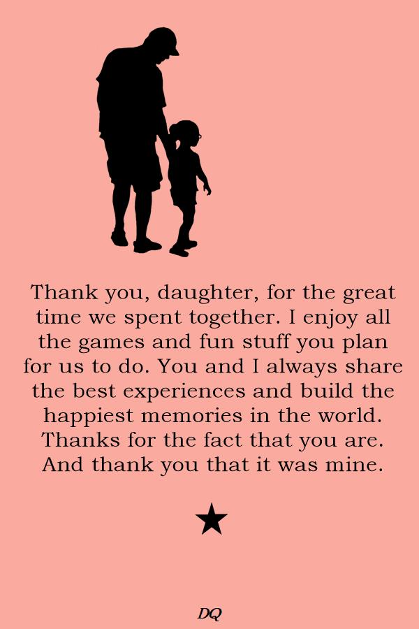 Thank You My Daughter Messages and Quotes