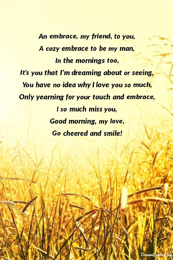 Romantic Good Morning Poems For Him [ Best Collection ] | Good morning poems, Morning poem, Poems for him