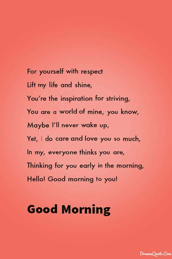 Beautiful Good Morning Poems to Brighten Up Your Loved One's Day