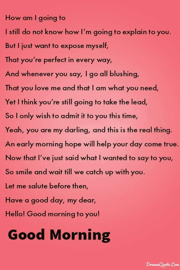 Short Good Morning Poems to Make Him Smile