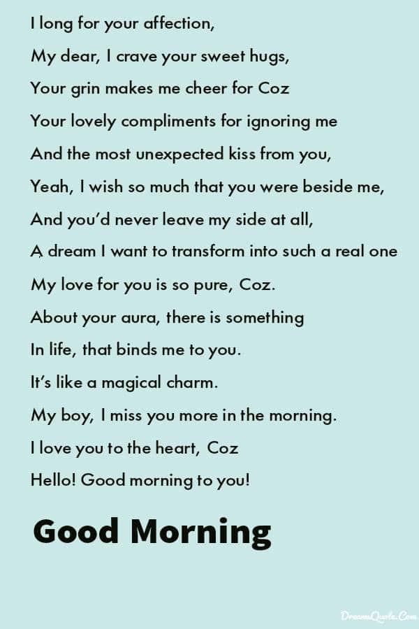 Best Good Morning Poems for Her and Him