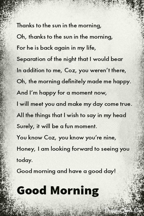 Good Morning Poems for Him | handsome good morning poems for him, boyfriend good morning poems for him, morning love notes for him