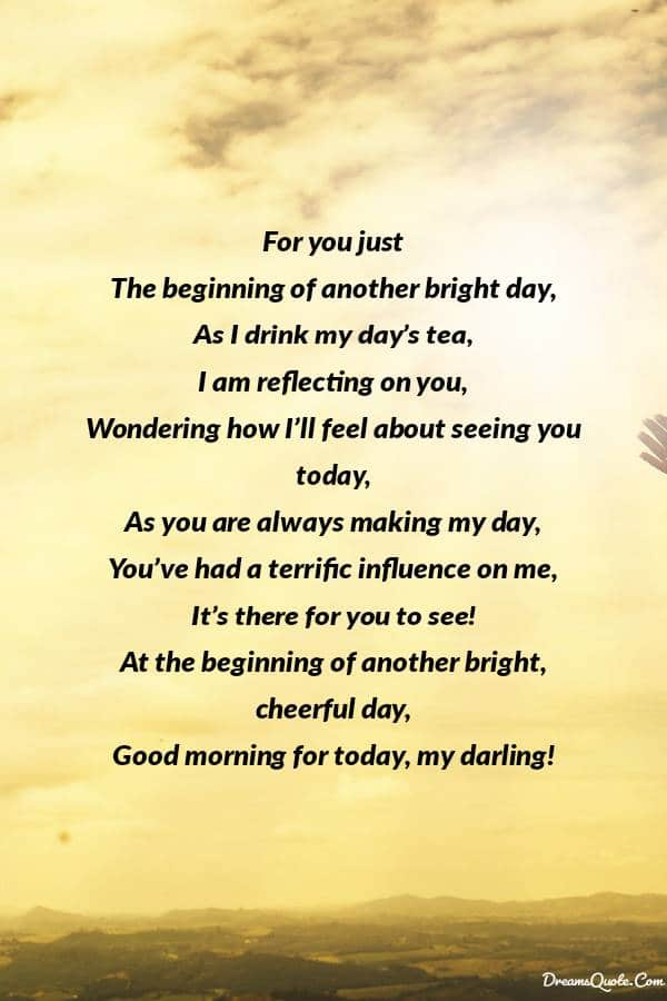Romantic Good Morning Poems For Him [ Best Collection ] | Good morning poems, Poems for him, Good morning quotes for him