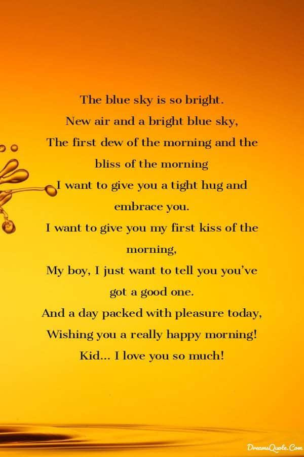 Romantic Good Morning Poems For Him [ Best Collection ] | Good morning poems, Poems for him, Morning poem