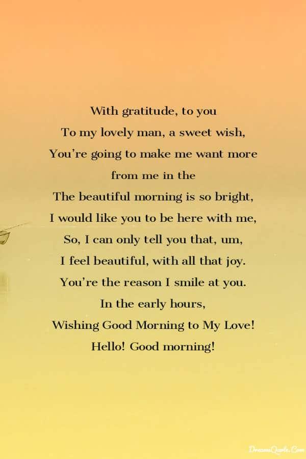 Romantic Good Morning Poems For Her [ Best Collection ] | Good morning poems, Love poem for her, Cute love poems