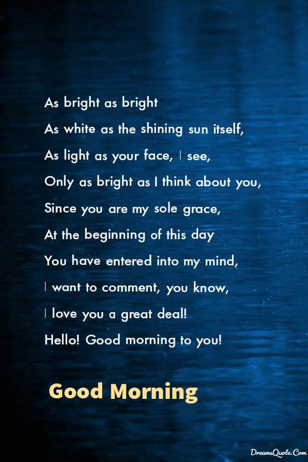 Romantic Good Morning Poems For Him [ Best Collection ]