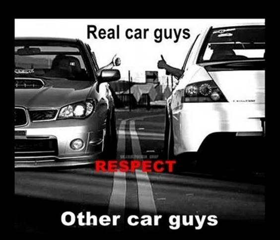 People who respect their car, not their own ego, are respectful of other car owners. Secret Boyfriend Meme