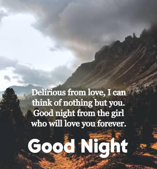 romantic good night for boyfriend