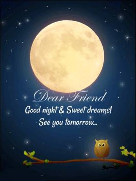 good night quotes to friends