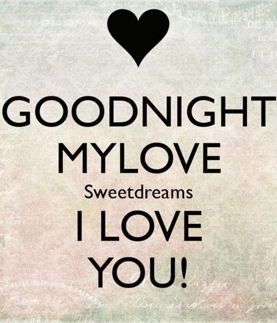 goodnight my sweetheart