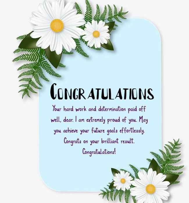 congratulations for result