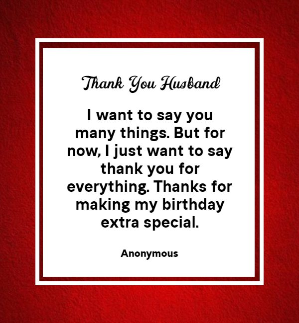 thank you messages for husband on birthday